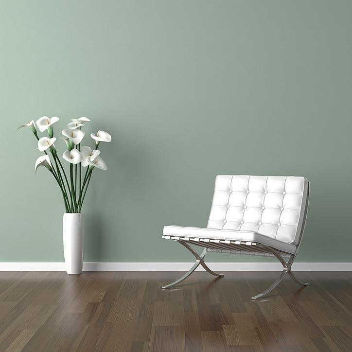 pentura schilderen groene muur